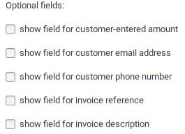 Widget field options